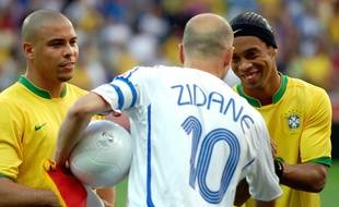 Ronaldo, Zidane et Ronaldinho lors de la Coupe du monde 2006.