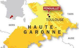 Carte de localisation de Fenouillet, où un collégien de 13 ans a poignardé sa professeure après une punition, le 15 mai 2009.