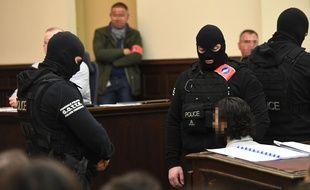 Ouverture du procès de Salah Abdeslam à Bruxelles, le 5 février 2018.