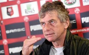L'entraîneur du Stade Rennais Christian Gourcuff, le 18 mai 2016.