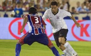 Ronaldo, le 4 mars 2009, lors de son premier match sous les couleurs des Corinthians après 387 jours d'arrêt.