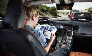 Illustration de voiture autonome