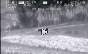 Capture d'écran d'une vidéo virale sur Internet.