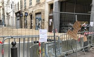 L'état de délabrement de certains immeubles à Marseille après le drame de la rue d'Aubagne. Le 31 janvier 2019.