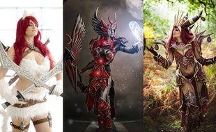 Trois des douze costumes confectionnés par Sélène, alias Vilina.