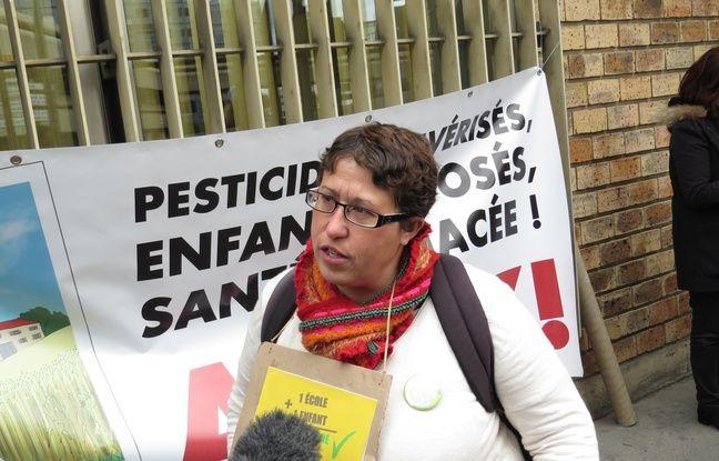 Marie Lys Bibeyran, ouvrière viticole et lanceuse d'alerte sur les dangers des pesticides est à l'origine de la pétition.