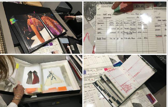 Les archives papiers comprennent croquis, fiches de manutentions, fiches d'atelier appelées «la Bible», carnets de commande, planches de collection, Polaroïds, dossiers et coupures de presse, etc.