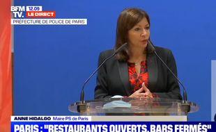 Anne Hidalgo, le 5 octobre 2020, à Paris.