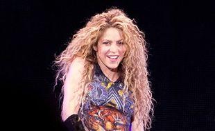 La chanteuse Shakira en concert à l'O2 Arena de Londres