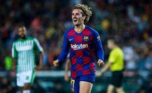 Antoine Griezmann a inscrit un doublé contre le Betis pour sa première au Camp Nou avec le Barça, le 25 août 2019.