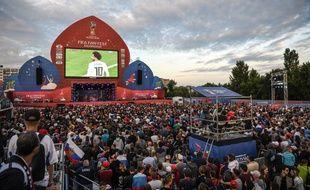 Des fan zones sont implantées dans plusieurs villes de Russie pendant la Coupe du monde.