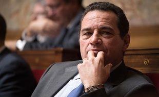 Le député PCD Jean-Frédéric Poisson, candidat à la primaire de la droite et du centre, le 9 novembre 2016 à l'Assemblée nationale