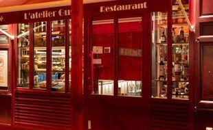 Un restaurant fermé, à Paris le 2 février 2021.
