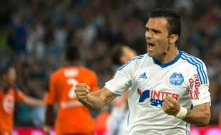 Le défenseur de l'OM Jérémy Morel lors de Marseille-Lorient le 24 avril 2015.
