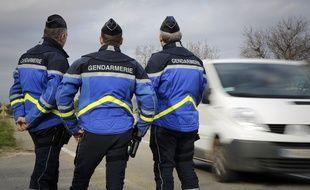 Illustration d'un contrôle de gendarmerie, en 2014.