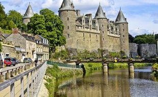 Chateau de Josselin, dans le Morbihan (Bretagne).
