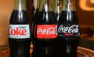 Différentes bouteilles de Coca-Cola