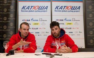 Luca Palolini (à droite), le 3 avril 2015.