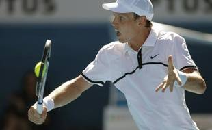 Le Tchèque Tomas Berdych lors de son match perdu contre Roger Federer lors de l'Open d'Australie 2009.