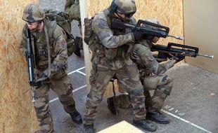 Des militaires du 3e Rima en exercice (illustration).