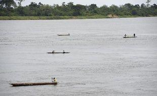 Des pêcheurs sur le fleuve Congo