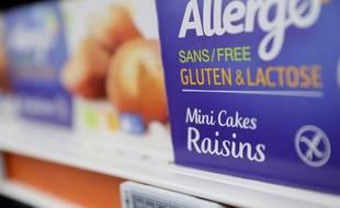 Des produits sans gluten dans un supermarché de Villeneuve-la-garenne, le 7 décembre 2016.