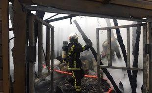 Les pompiers au zoo de La Flèche, samedi 25 janvier 2020.