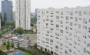 Un immeuble de logements HLM dans le quartier Malakoff à Nantes.