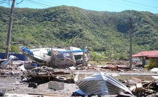 Les dégâts sont importants après le tsunami du 30 septembre aux Samoa.