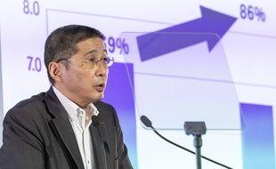 Hiroto Saikawa, président de Nissan, au siège de la société à Yokohama, près de Tokyo, le 25 juillet 2019.