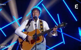 Laurent Voulzy, lors du concert «Ensemble pour les Antilles», diffusé mardi soir sur France 2.