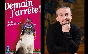 """""""Demain j'arrête"""", aux éditions Pocket, disponible en librairie (7,22 euros) et son auteur,Gilles Legardinier."""