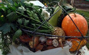 Photo d'un panier de légumes à Argentan. (Photo archives).