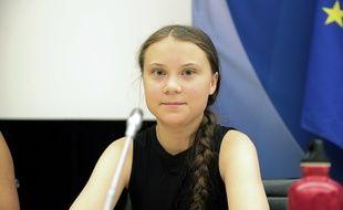Greta Thunberg à l'Assemblée nationale, le 23 juillet 2019.