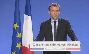 Emmanuel Macron s'est déclaré candidat à l'élection présidentielle de 2017.
