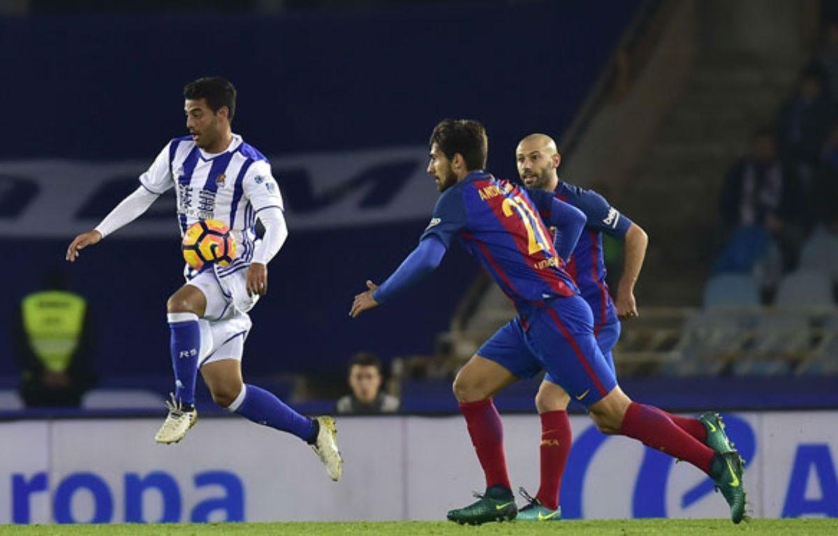 Carlos Vela face au Barça, le 27 novembre 2016.  – Alvaro Barrientos/AP/SIPA
