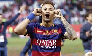Neymar après la finale de la Coupe du Roi le 22 mai 2016.