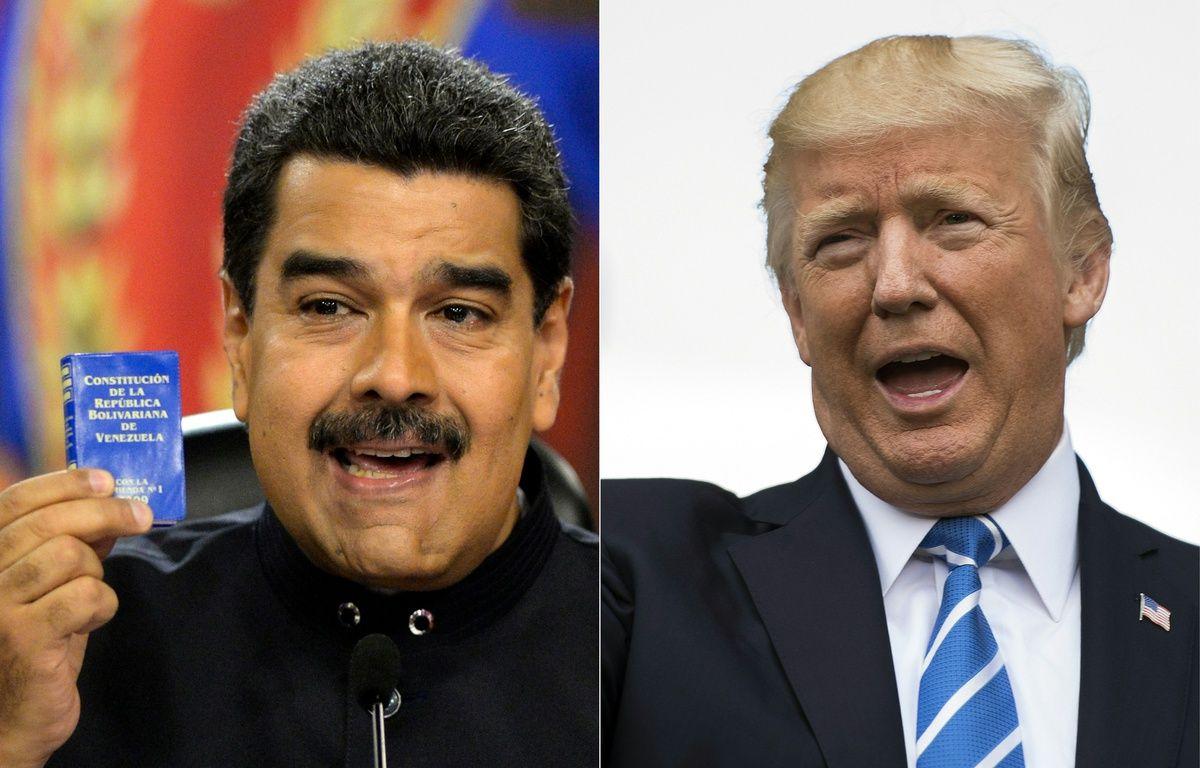 Les présidents vénézuélien Nicolas Maduro et américain Donald Trump. – JIM WATSON, FEDERICO PARRA / AFP