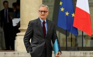L'ancien secrétaire d'État chargé des relations avec le parlement, André Vallini, ici en avril devant l'Elysée, a été réélu dimanche lors des sénatoriales en Isère.