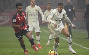 Mbappé et le PSG face au Losc, le 14 avril 2019.