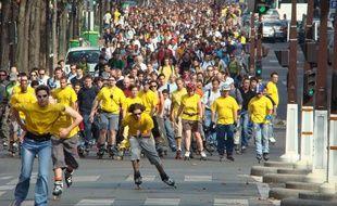 La randonnée roller du dimanche réunit des milliers de participants