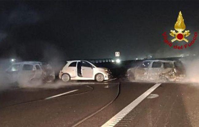 Italie: Un convoyeur de fonds traverse un mur de flammes pour échapper à des malfaiteurs
