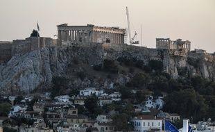 Emmanuel Macron prononcera un discours en plein air devant l'Acropole d'Athènes, ce jeudi.