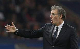 L'entraîneur du PSG, Laurent Blanc, lors du match contre Benfica, le 2 octobre 2013 à Paris en Ligue des champions.