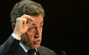 Nicolas Sarkozy en meeting à Marseille, le 28 octobre 2014.