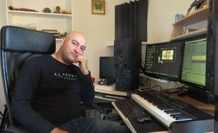 Khaled Freak dans son studio