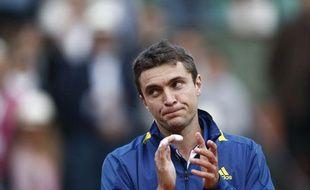 Gilles Simon après sa défaite en 8e de finale de Roland-Garros, le 2 juin 2013.