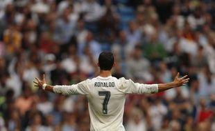 Cristiano Ronaldo (Real Madrid), le 17 octobre 2015, au stade Santiago-Bernabeu.