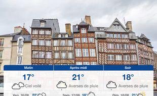 Météo Rennes: Prévisions du jeudi 15 août 2019