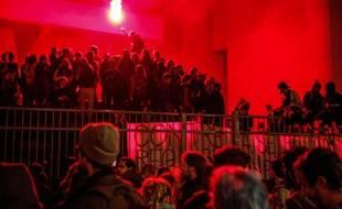 Des étudiants parisiens occupent le campus de Tolbiac, le 12 avril 2018.